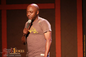 Comedian DONNELL RAWLINGS keeps the crowd laughing